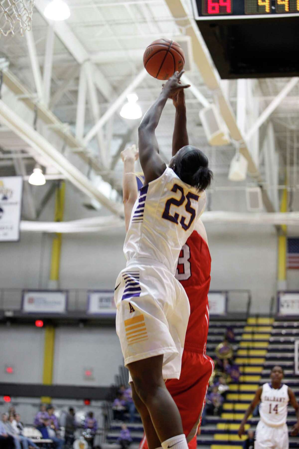 UAlbanyOs Shereesha Richards fights for a rebound during the womenOs college basketball game against Marist at the SEFCU Arena on Thursday, Nov. 14, 2013 in Albany, N.Y. (Dan Little / Special to the Times Union)