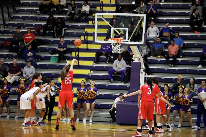 Marist's Madeline Blais makes a free throw attempt during the womenOs college basketball game agains