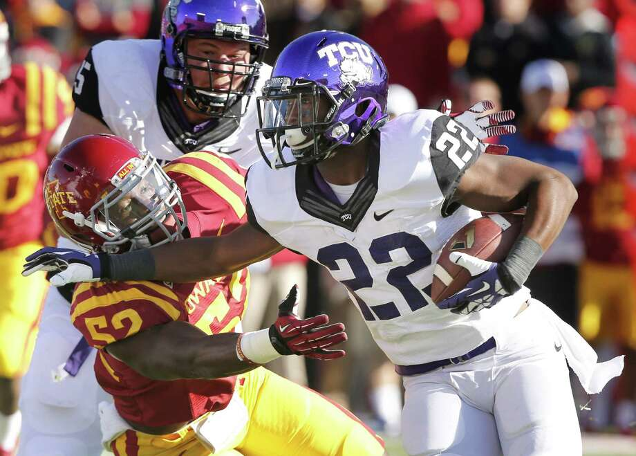 TCU's Aaron Green stepped into action last week against Iowa State and delivered a pair of crucial runs in a game-winning drive. Photo: David Purdy / Getty Images
