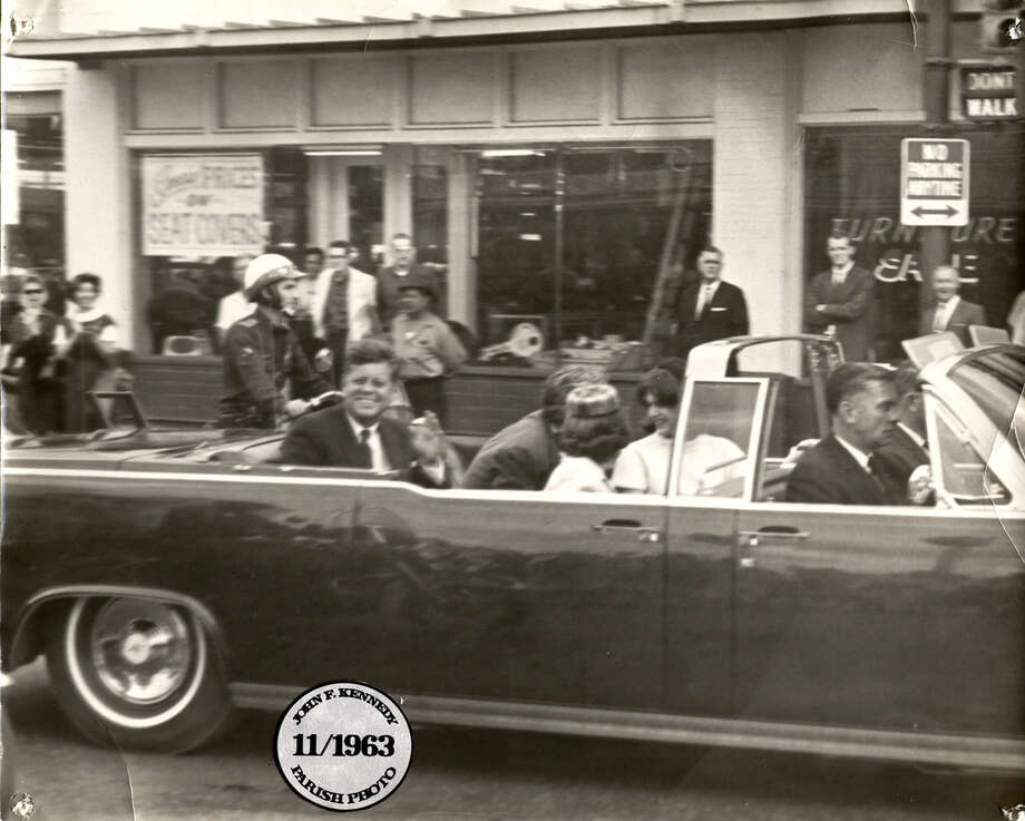 This is the photo of President John F. Kennedy that Charles Parish took in downtown San Antonio on Nov. 21, 1963. A day later, Kennedy was slain in Dallas. Photo: Charles Parish / Courtesy Photo
