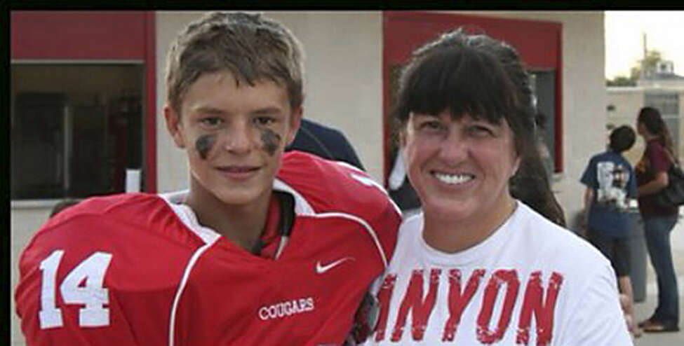 Logan Davidson, 15, hit his head on a wall after being punched.