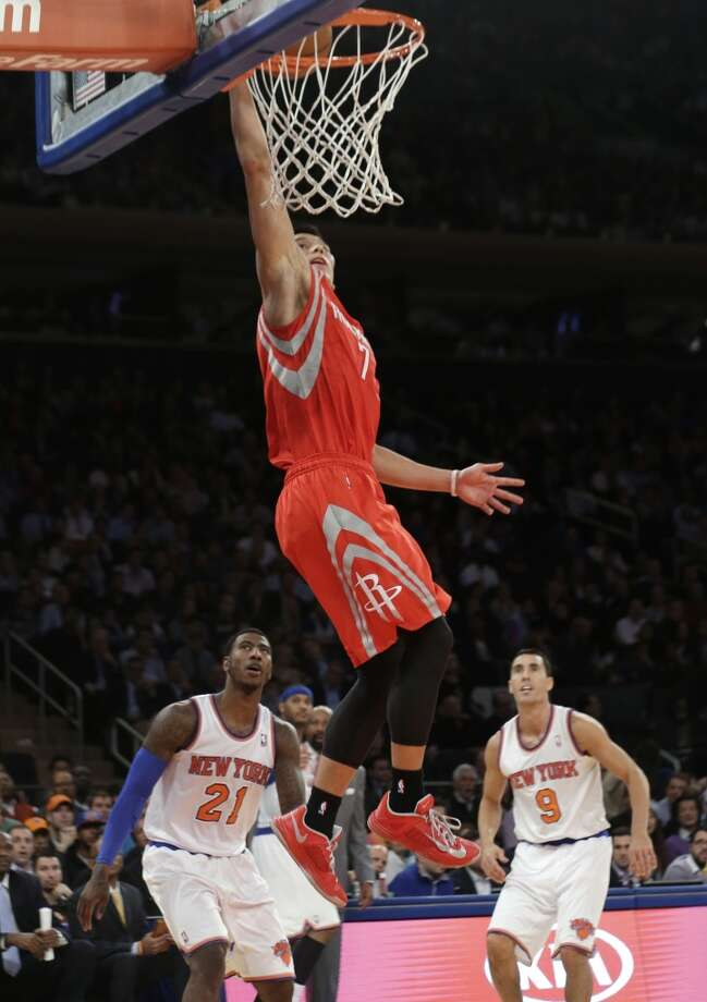 Nov. 14: Rockets 109, Knicks 106  James Harden returned to the starting lineup and the Rockets held off a scoring outburst by Carmelo Anthony as Jeremy Lin's return to New York proved to be a victorious one.  Record: 6-4 Photo: Frank Franklin II, Associated Press