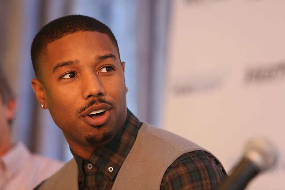 Actor Michael B. Jordan (Fruitvale Station) answers a question during a news conference at the San Francisco Film Society's Inaugural Fall Celebration in San Francisco on Thursday, Nov. 14, 2013. Photo: Mathew Sumner, Special To The Chronicle