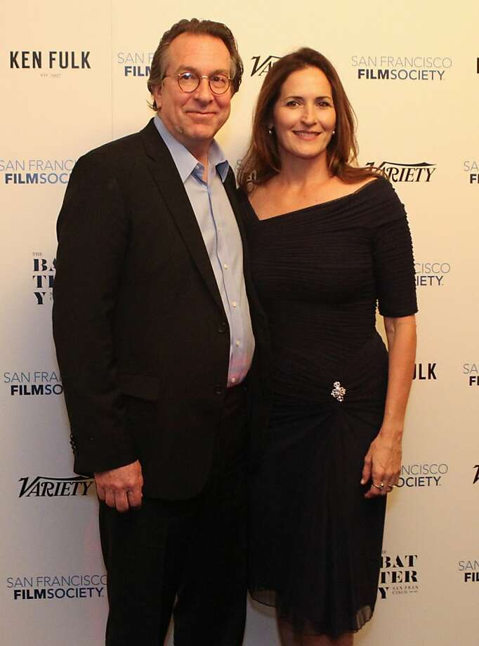 Steven Gaydos of Variety and wife, Gina pose for photographers at the San Francisco Film Society's Inaugural Fall Celebration in San Francisco on Thursday, Nov. 14, 2013. Photo: Mathew Sumner, Special To The Chronicle