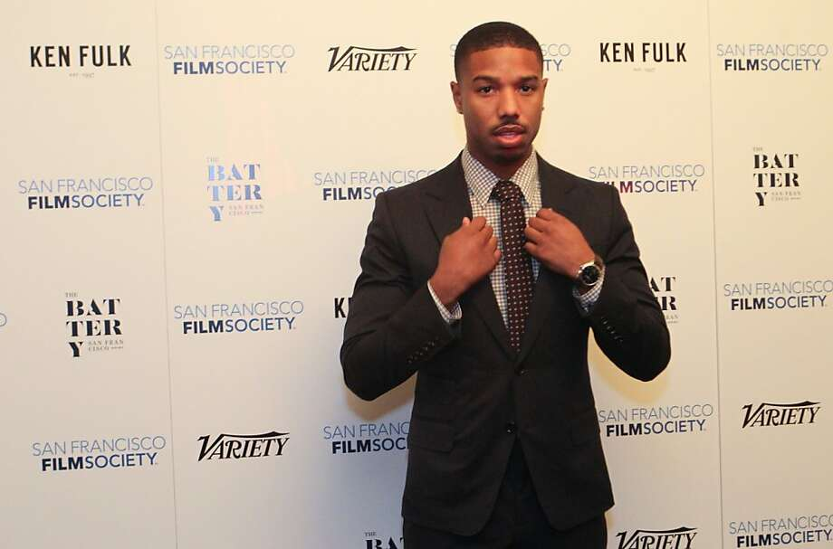 Actor Michael B. Jordan (Fruitvale Station) poses for photographers at the San Francisco Film Society's Inaugural Fall Celebration in San Francisco on Thursday, Nov. 14, 2013. Photo: Mathew Sumner, Special To The Chronicle
