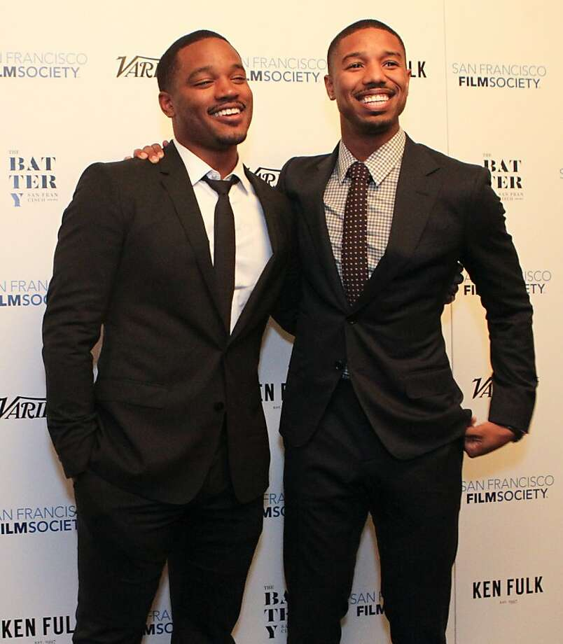 Director Ryan Coogler, left, and actor Michael B. Jordan (Fruitvale Station) pose for photographers at the San Francisco Film Society's Inaugural Fall Celebration in San Francisco on Thursday, Nov. 14, 2013. Photo: Mathew Sumner, Special To The Chronicle