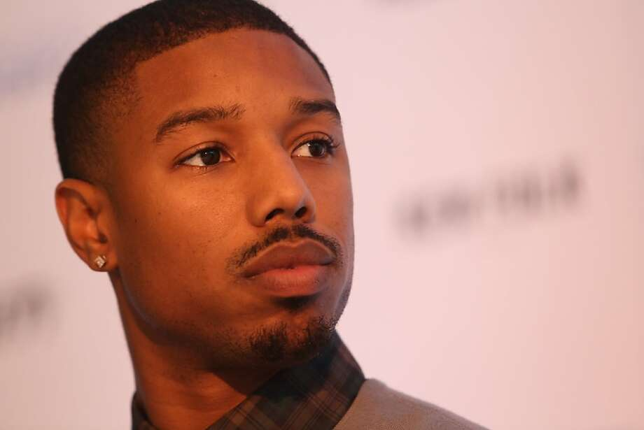 Actor Michael B. Jordan (Fruitvale Station) listens to a discussion during a news conference at the San Francisco Film Society's Inaugural Fall Celebration in San Francisco on Thursday, Nov. 14, 2013. Photo: Mathew Sumner, Special To The Chronicle