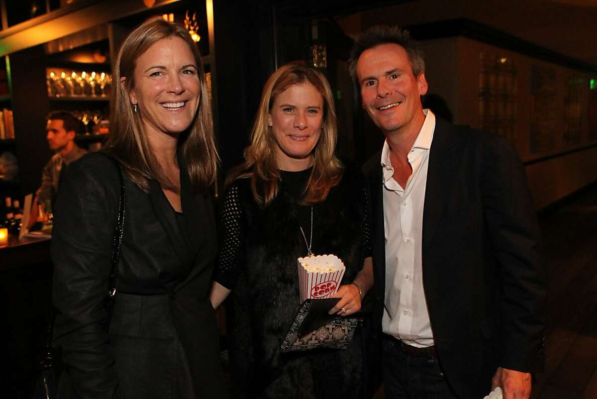 Lisa Dolby-Chadwick, left, A. K. L'Heureux, center, and Matt L'Heureux attend the San Francisco Film Society's Inaugural Fall Celebration in San Francisco on Thursday, Nov. 14, 2013.