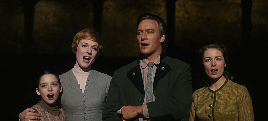 "From left: Angela Cartwright, Julie Andrews, Christopher Plummer and  Charmian Carr belt out a tune in the 1965 classic ""The Sound of Music."" Photo: Courtesy Of The Castro Theatre"