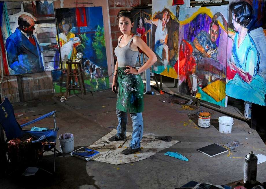 Abigail Mclaurin in her space at the Art Studio Photo taken Wednesday, August 22, 2012 Guiseppe Barranco/The Enterprise Photo: Guiseppe Barranco/The Enterprise