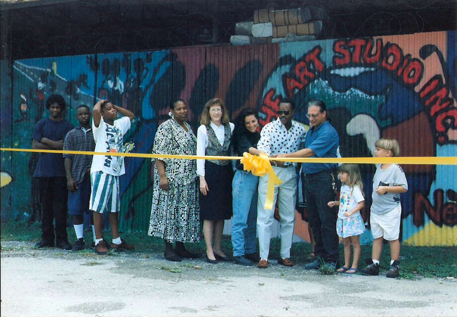 The 1995 grand opening at the Art Studio's current space on Franklin Street. Photo: Provided By The Art Studio, Courtesy
