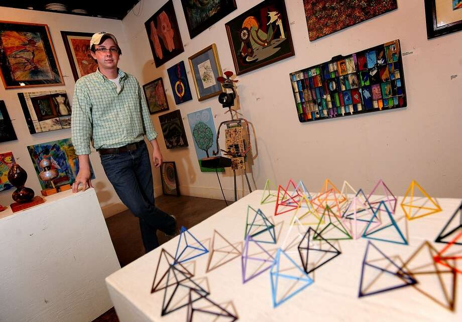 James Warren displays Shifting Form at the Art Studio in Beaumont. Guiseppe Barranco/The Enterprise Photo: Guiseppe Barranco/The Enterprise