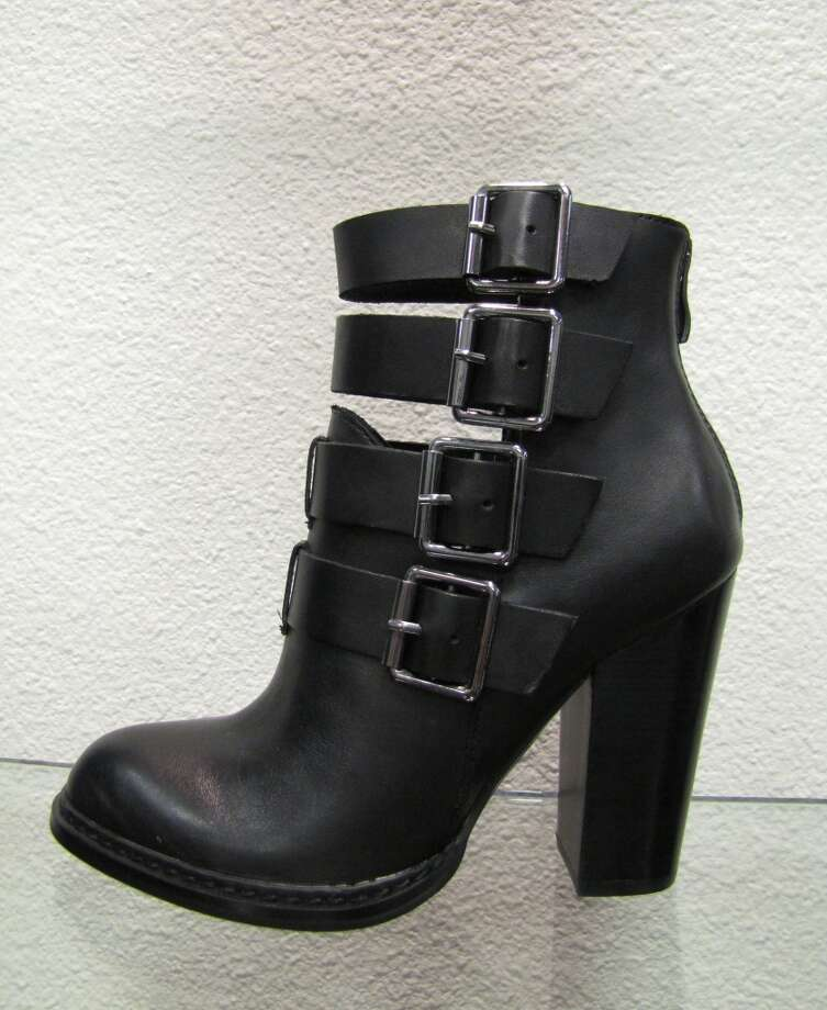 Leather buckle bootie, $129.99, LUXE Boutique, Beaumont Photo: Cat5