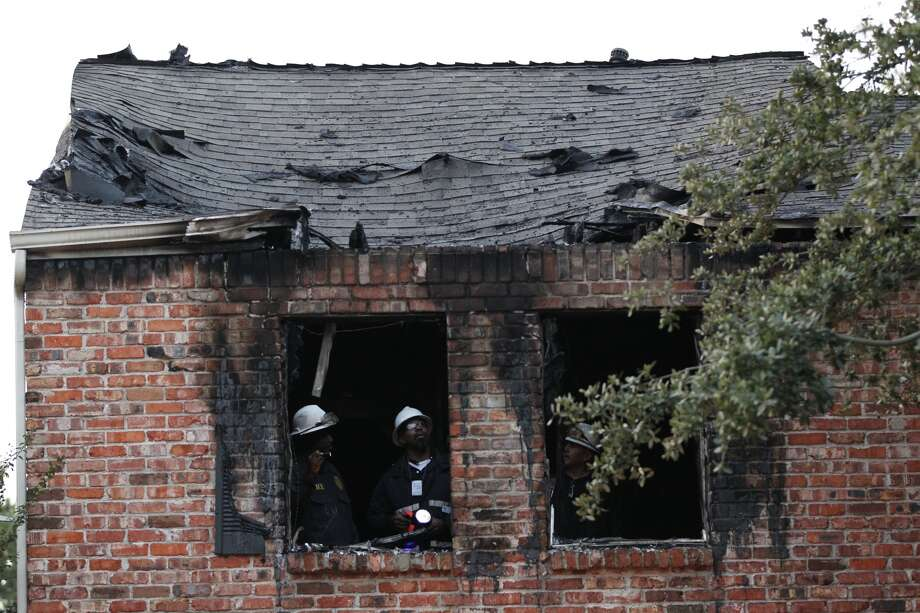 A 2-alarm fire broke out early Friday morning in the 12000 block of Rip Van Winkle in west Houston. Photo: Johnny Hanson, Houston Chronicle