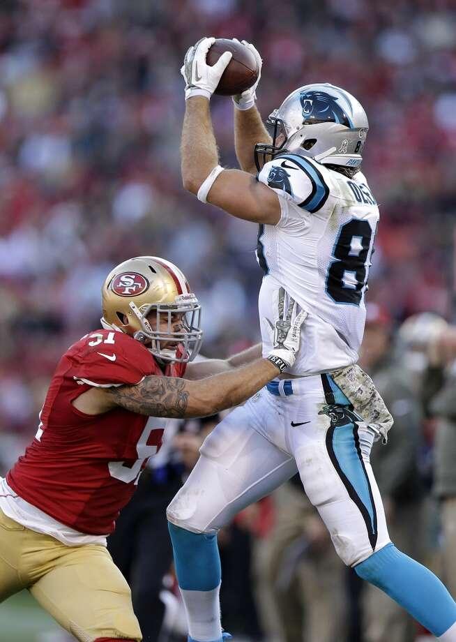 New England (7-2) plus-2 ½ at Carolina (6-3): Panthers 23-19 Photo: Marcio Jose Sanchez, Associated Press