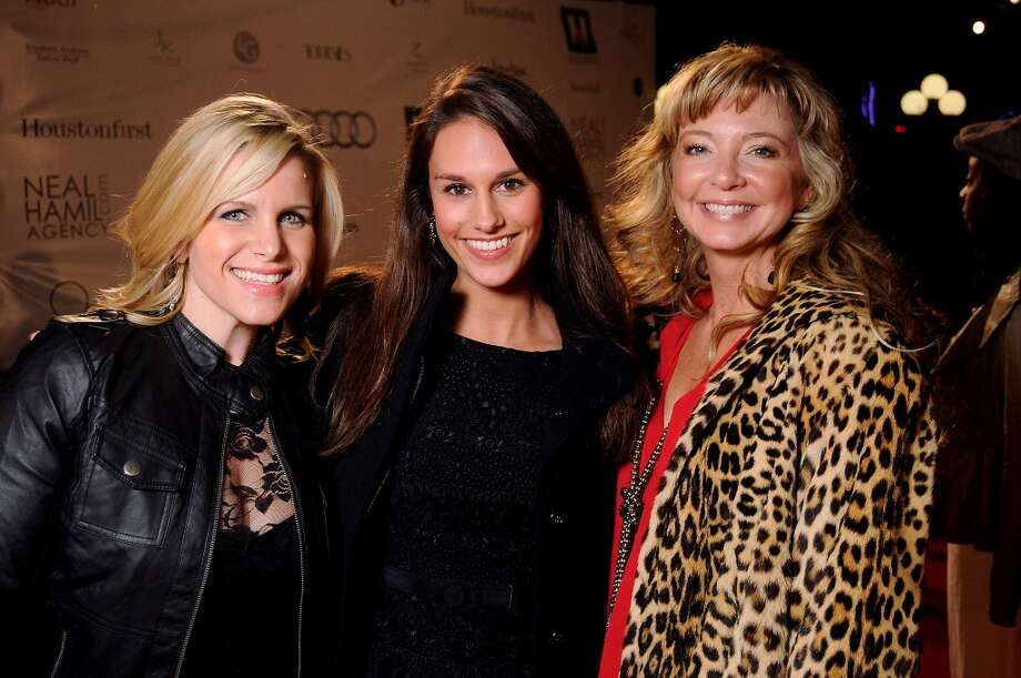 From left: Molly Loomis, Taylor Neville and Stacy Harris on the red carpet at Fashion Houston at the Wortham Theater Thursday Nov.14. Photo: Dave Rossman, For The Houston Chronicle