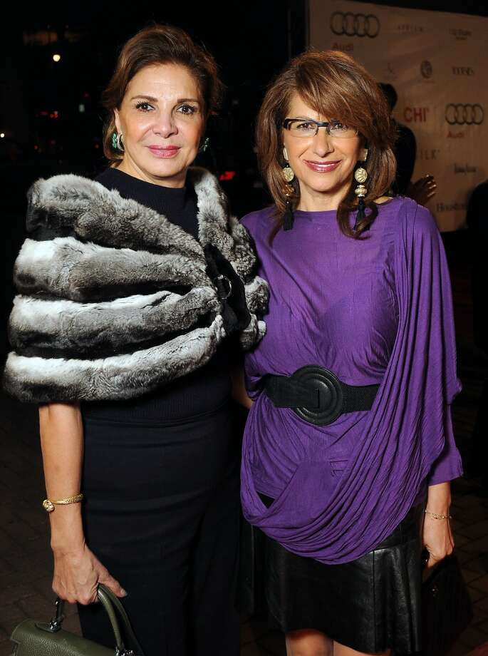 Ghayda Midani and Eva Farha  on the red carpet at Fashion Houston at the Wortham Theater Thursday Nov.14. Photo: Dave Rossman, For The Houston Chronicle