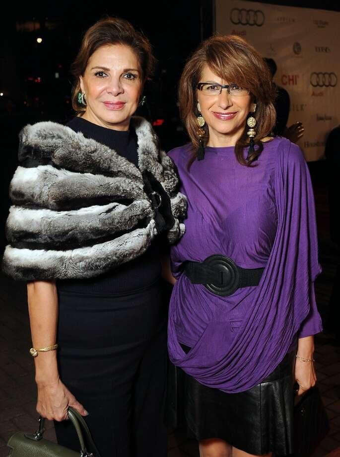 Ghayda Midani and Eva Farha  on the red carpet at Fashion Houston at the Wortham Theater Thursday Nov.14. Photo: Dave Rossman, For The Houston Chronicle