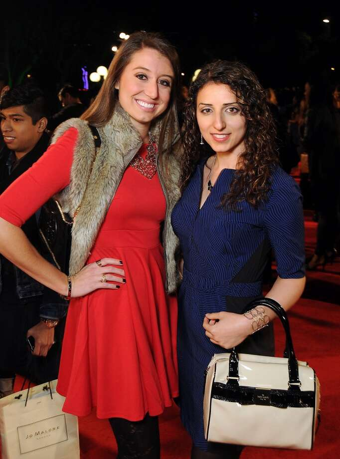 Amanda Bernhard and Huda Alsheikh on the red carpet at Fashion Houston at the Wortham Theater Thursday Nov.14. Photo: Dave Rossman, For The Houston Chronicle