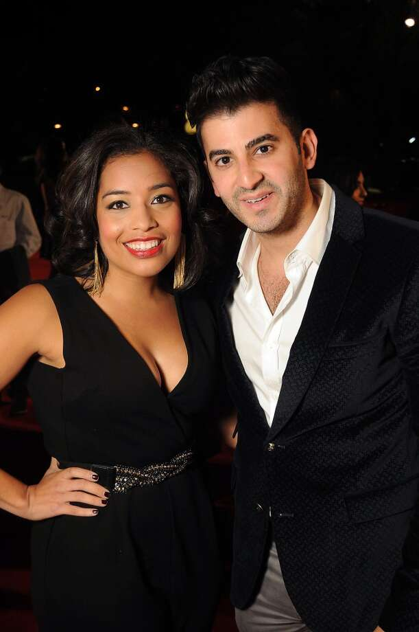 Jenny Harris and Colin Moussa on the red carpet at Fashion Houston at the Wortham Theater Thursday Nov.14. Photo: Dave Rossman, For The Houston Chronicle