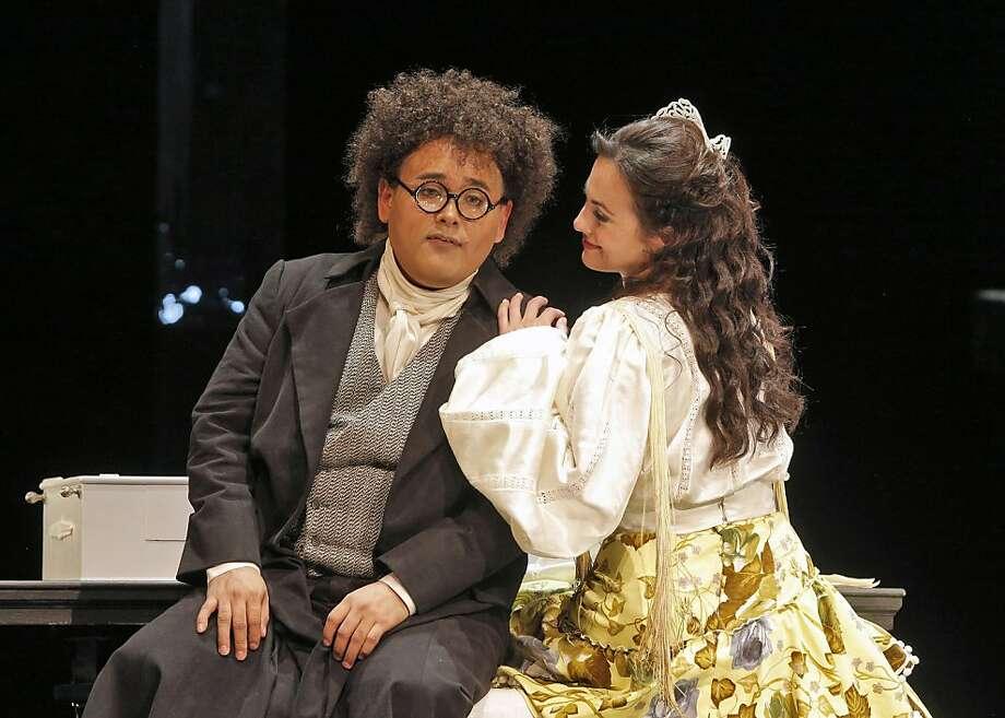 The Barber of Seville  Javier Camarena (Count Almaviva) and Isabel Leonard (Rosina). Photo: Cory Weaver, San Francisco Opera.