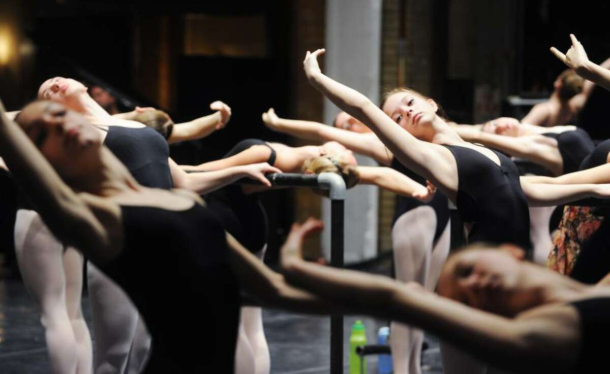 Aspiring dancers participate in a ballet Master Class instructed by Susan Jaffe, of Princeton Dance and Theater Studio, during DanceFest 2010 at the Palace Theater in in Stamford, Conn. on Saturday, Jan. 23, 2010.