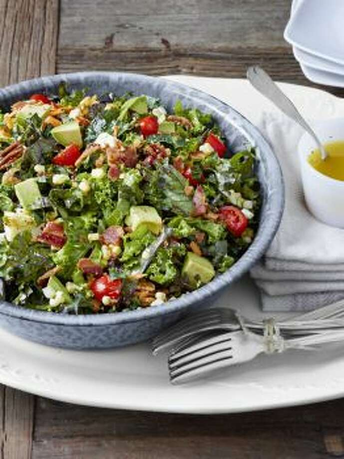 Chopped Collard and Kale Salad With Lemon-Garlic DressingThis easy make-ahead salad is sure to be a new favorite for your family.Read the recipe Photo: John Kernick /Country Living