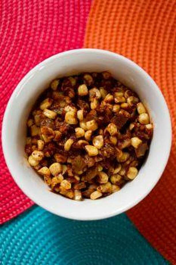 Warm Corn and Chile Pepper Salad