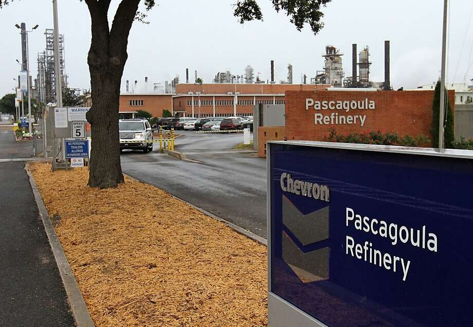 Authorities are investigating the cause of an early morning explosion and fire at the Chevron refinery in Pascagoula, Miss. Photo: John Fitzhugh, Associated Press