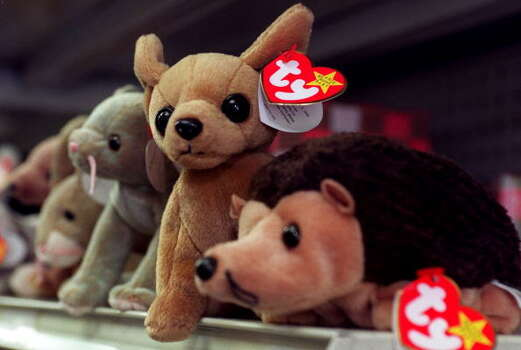 Beanie Babies - Remember when we all thought we'd be mega rich by now simply by making a small investment in these stuffed animals? Boy, those were the days.  Photo: JOYCE NALTCHAYAN, AFP/Getty Images / AFP