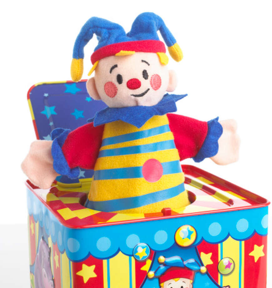Jack in the Box:The jack in the box does two things: sits there doing nothing and scaring children. Which one of these is supposed to be fun? Photo: Dave King, Getty Images/Dorling Kindersley / Dorling Kindersley