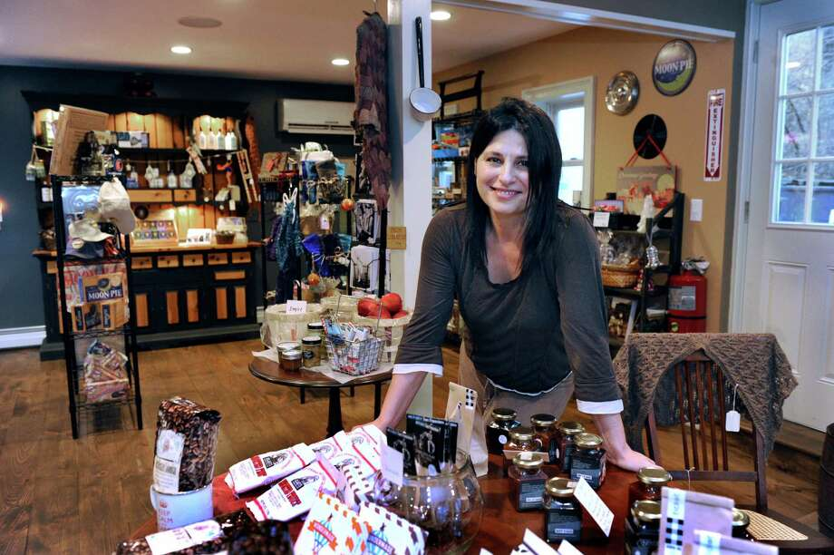 Lisa Aurello and her husband Dean Abatemarco own Tilly Foster General Store in Brewster, N.Y. Photo: Carol Kaliff / The News-Times