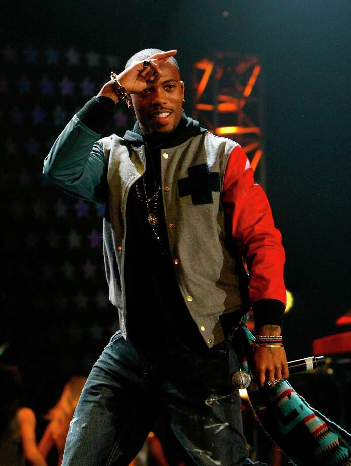 Rapper B.o.B. performs during the Sprint NBA All-Star Pregame Concert. Photo: Cody Duty, Chronicle / © 2013  Houston Chronicle