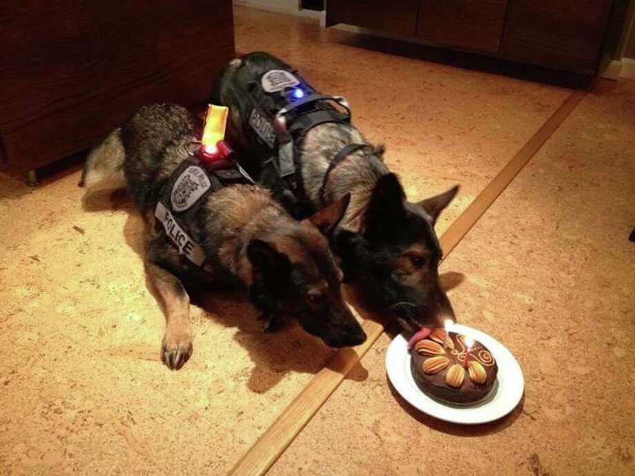They enjoyed a peanut butter-based cake made by Smith's wife, Stephanie. Photo: Seattle Police Foundation