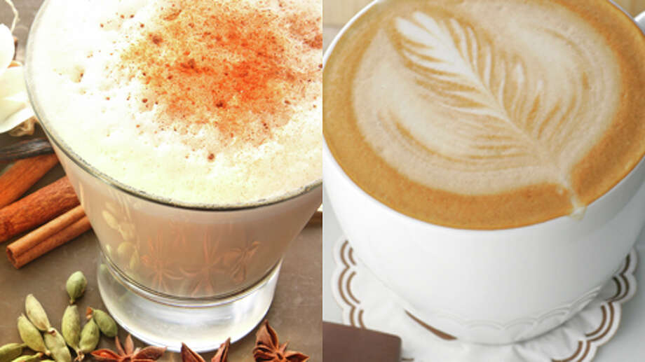Latte: Tea or Coffee?  Coffee  A coffee (espresso) latte may be better, because some tea lattes are loaded with sugar.   All content courtesy of the Center for Science in the Public Interest Photo: Getty Creative Stock