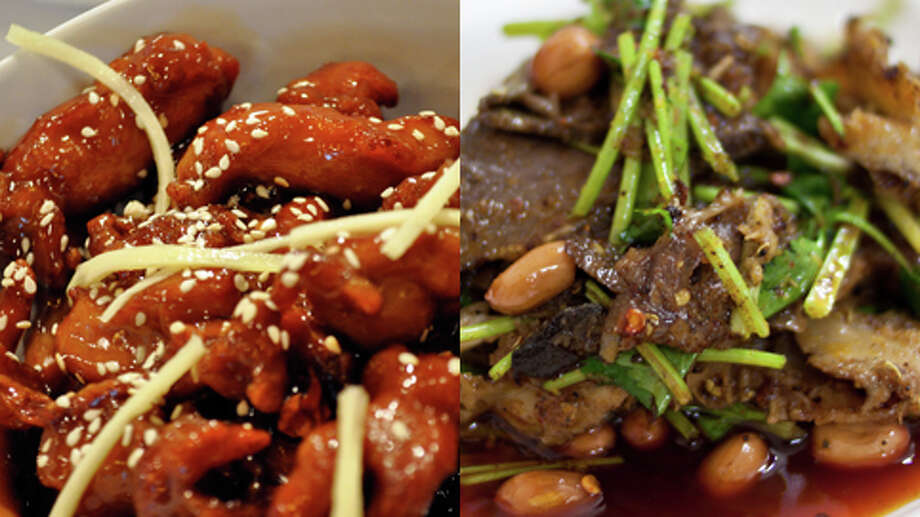 Chinese: Beef or Chicken?  It depends.   If you order General Tso's, orange, sesame, honey, kung pao, or some other breaded, fried, sauce-laden chicken dish, you'll push away from the table with 1,000 to 1,200 calories...and that's without any rice. That's more than beef with broccoli and other unbreaded beef dishes, which have about 700 to 900 calories without rice. Photo: Getty Creative Stock