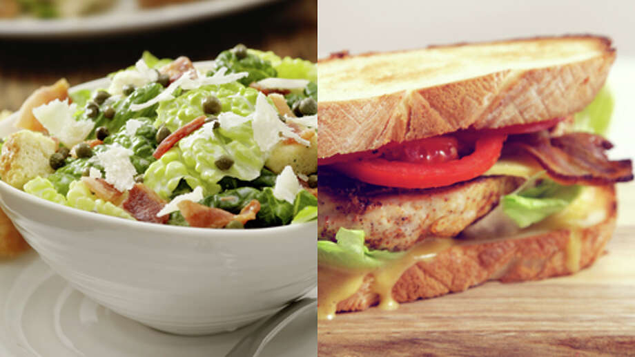 SaladA salad beats a sandwich, though you have to choose your salad wisely. Go easy on dressings, cheese and other fatty toppings. Choosing salad can also help lower your sodium intake. Photo: Getty Creative Stock