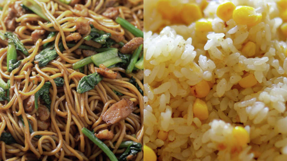 Noodles or Rice?  Rice  The rice is likely to have less sodium than noodle sides such as lo mein. Even better if you don't get fried rice. Photo: Getty Creative Stock