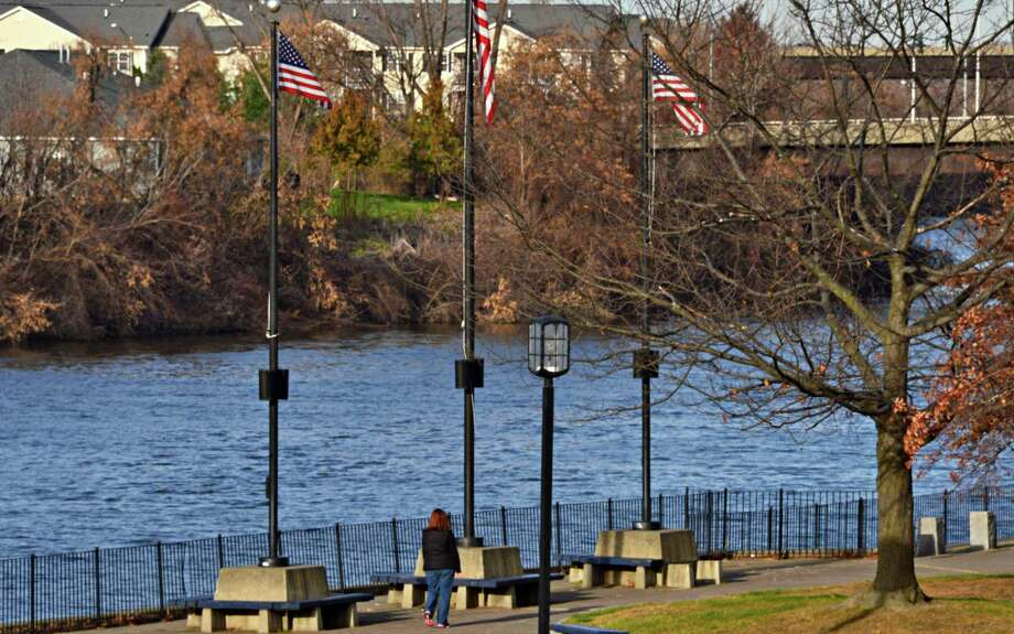 View of the Hudson River from the former City Hall site at 1 Monument Square Friday Nov. 15, 2013, in Troy, NY.  (John Carl D'Annibale / Times Union) Photo: John Carl D'Annibale / 00024672A