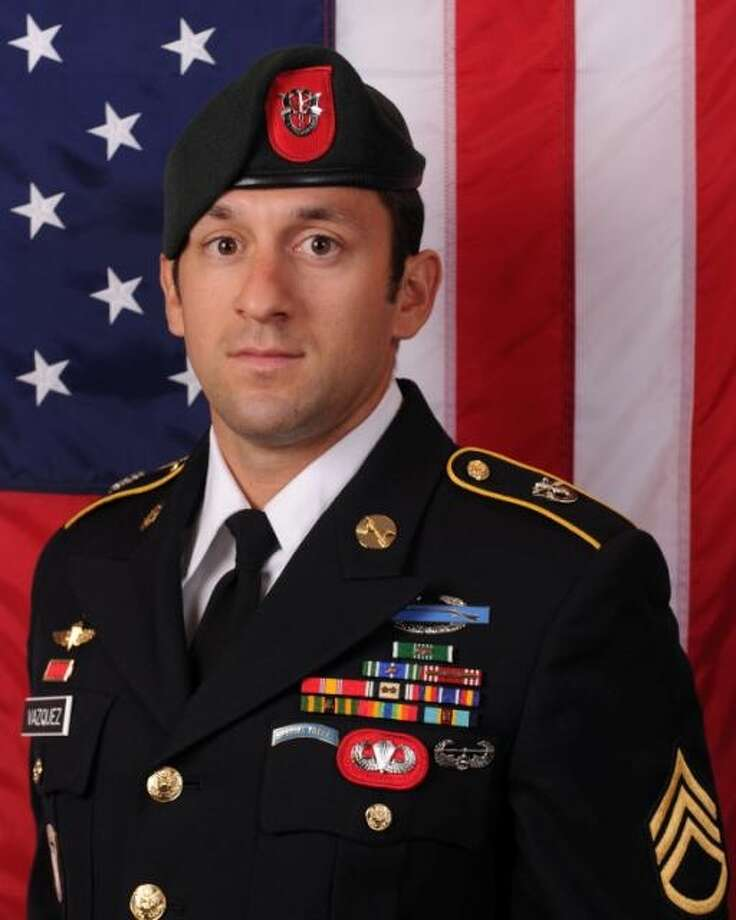 Staff Sgt. Richard L. Vazquez, 28, a Seguin High School graduate and Special Forces soldier, died Wednesday Nov. 14, 2013 of injuries from an improvised explosive device in Afghanistan, according to the Seguin Gazette-Enterprise. Vaszuez graduated in 2004 from Seguin High and was a resident of Louisiana at the time of his death, according to the paper. He served on the 3rd Battalion, 7th Special Forces Group, colloquially known as the Green Berets. Photo: ARMY, COURTESY / COURTESY OF THE DOD / ARMY