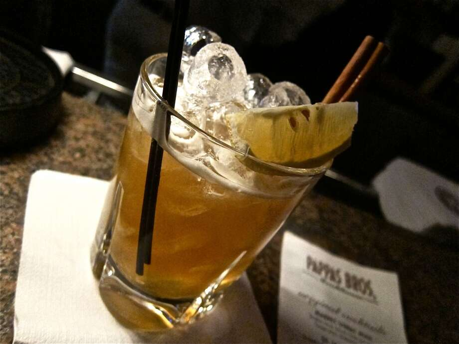 The St. James Street cocktail from Matt Tanner's new list for Pappas Bros. Steakhouse. Photo: Alison Cook