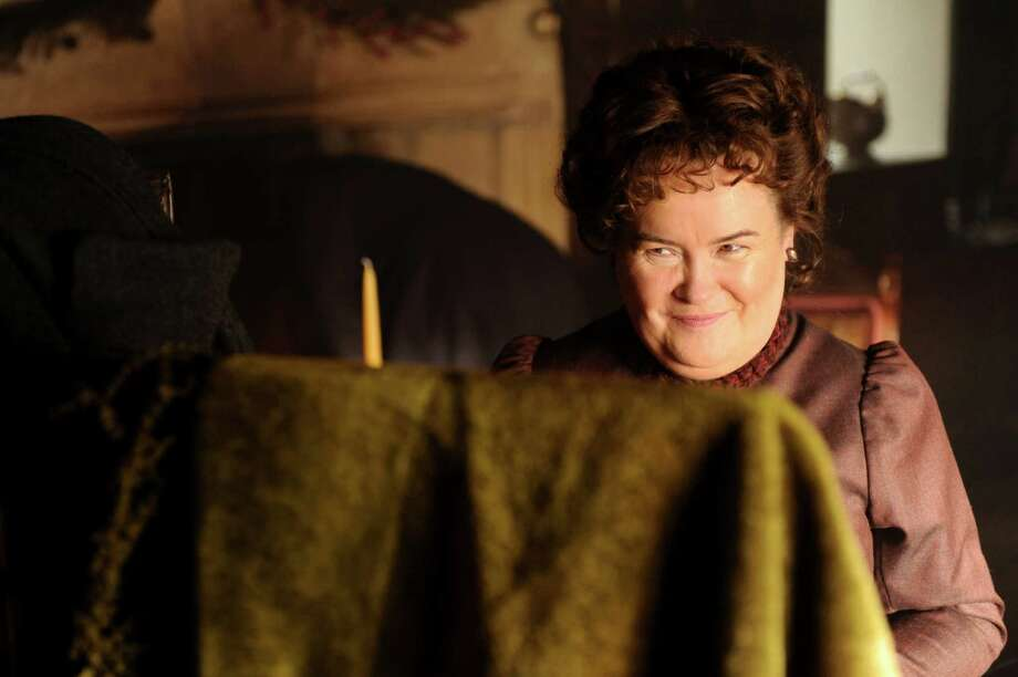 "Scottish singer Susan Boyle make her feature film debut in ""The Christmas Candle,"" a story set in the English countryside in 1890. Photo: EchoLight Studios"