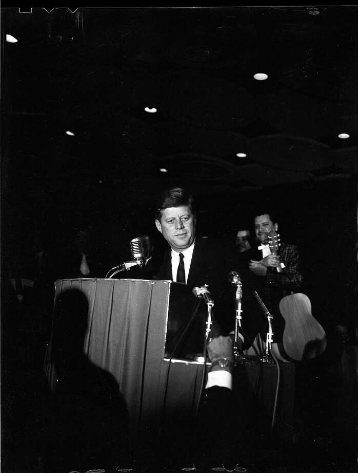President John F. Kennedy addressed Houston's League of United Latin American Citizens on Nov. 21, 1963, in the Rice Hotel ballroom. Photo: HC Staff / Houston Chronicle