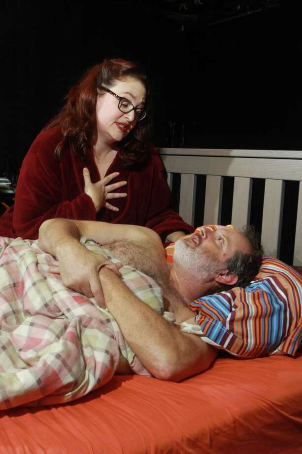 """(For the Chronicle/Gary Fountain, November 9, 2013) Tamarie Cooper as Marie, and Charlie Scott as Bruce, in this scene from Catastrophic Theatre's production """"Marie and Bruce."""" Photo: Gary Fountain, Freelance / Copyright 2013 Gary Fountain."""