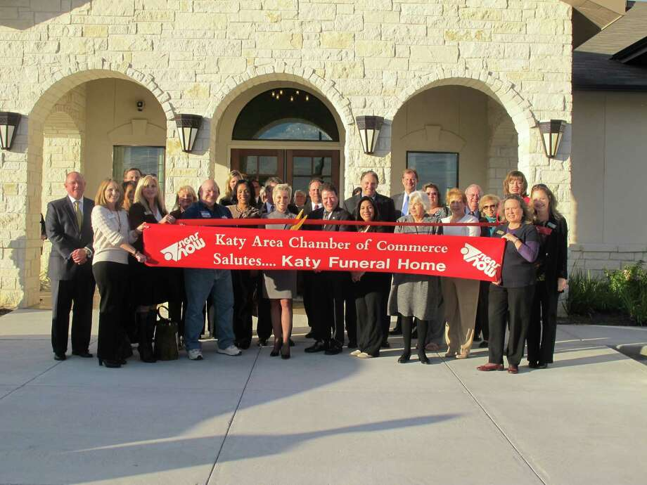 The ribbon-cutting ceremony at Dignity Memorial Katy Funeral Home. Photo: Katy Chamber Of Commerce Photo
