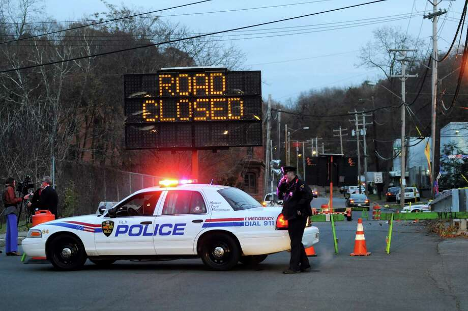 The Spring Avenue Bridge is closed on Friday, Nov. 15, 2013, in Troy, N.Y. The city has determined that the bridge over the Poesten Kill must be closed due to stability issues. (Cindy Schultz / Times Union) Photo: Cindy Schultz / 00024674A
