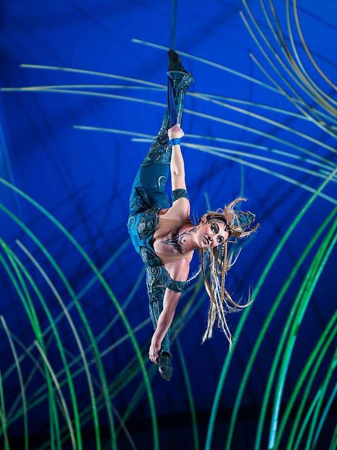 """Kylee Maupoux performs in Cirque du Soleil's """"Amaluna."""" Photo: Yannick Dery (accent / Over E)"""