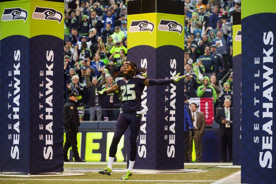 Five things to watch: Minnesota Vikings (2-7) at Seattle Seahawks (9-1) Sunday, Nov. 17 | 1:25 p.m. PST | CenturyLink Field | TV: Fox  Hot off their dominant win in Atlanta last week, the Seahawks return home Sunday to face the Minnesota Vikings. While the 9-1 Hawks are flying high in the NFC, the 2-6 Vikes are on the other end of the spectrum. They have superstar running back Adrian Peterson and a scary-good special-teams unit, but they've started three different quarterbacks already this season and their starter is nursing a shoulder injury. By all accounts, the Seahawks are expected to win handily on Sunday; Vegas bookies are favoring Seattle by 13 to 14 points.  Minnesota's defense is ranked 30th in the NFL -- mostly for giving up an average of  285.7 passing yards per game, but also for allowing 113.7 rushing yards per tilt for a ranking of 17th in the league. Seattle, meanwhile, has the NFL's most prolific running game, with Marshawn Lynch leading the way for a league-leading 153.4 team yards on the ground per game. And oh, while the Seahawks' passing offense is ranked just 24th, they are gaining an average of  208.6 yards through the air and their quarterback, Russell Wilson, has the fifth-best passer rating in the NFL, behind just Peyton Manning, Drew Brees, Aaron Rodgers and Philip Rivers.  But of course, the big story for Seattle is the return of its injured offensive linemen and the possible debut of Percy Harvin -- against his old Vikings team, no less. That is just one of the keys to watching the Seahawks and Vikings on Sunday; click through the gallery for our five things to watch. Photo: Jordan Stead, Seattlepi.com