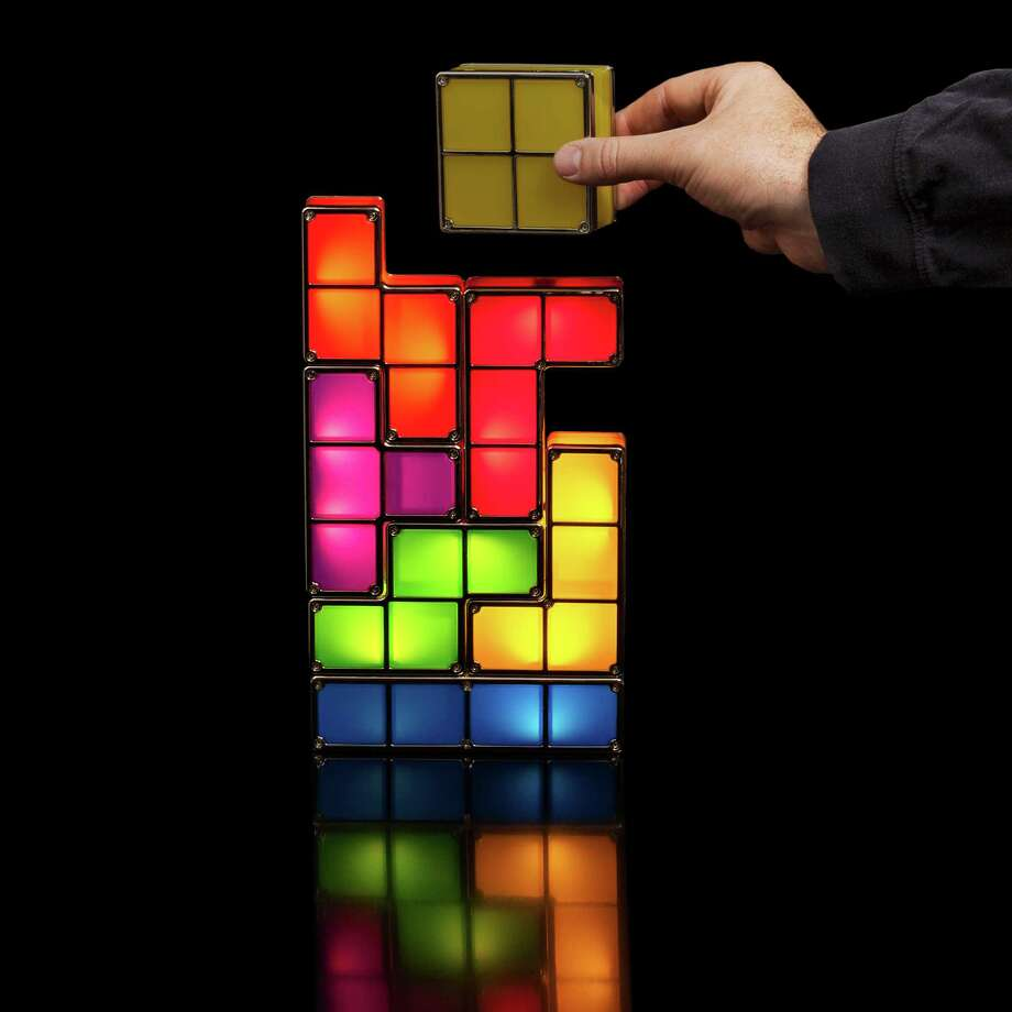 Tetris Stackable LED Desk Lamp. Photo: ThinkGeek