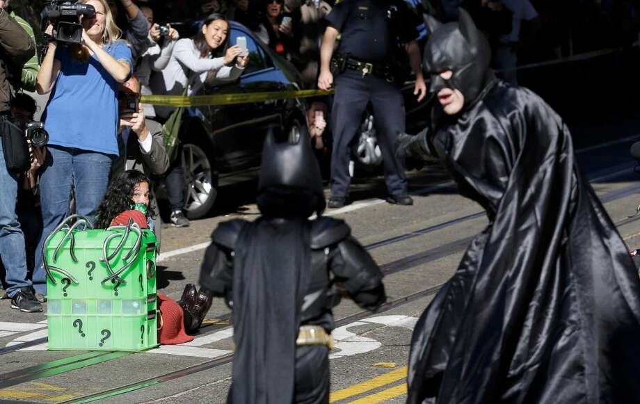 """#Batkid in the city of #Toronto to rid the city of an evil villain or two. #RobFord #DougFord""  — Mark Rossi (@MarkRossi1) November 15, 2013"